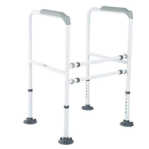 Cocoarm WC-Aufstehhilfe Höhenverstellbar WC Haltegriff Rostfreier Stahl Sicherheitsgestelle für Toiletten Badezimmer Haltegriff für Senioren Schwangere Deaktiviert