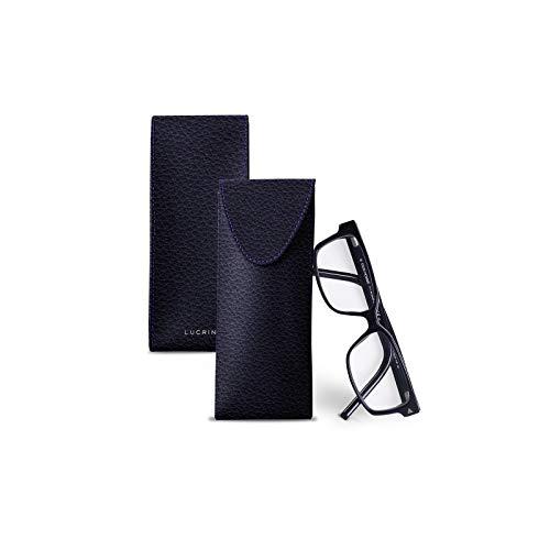 Lucrin - Astuccio per occhiali - Viola - Pelle Ruvida