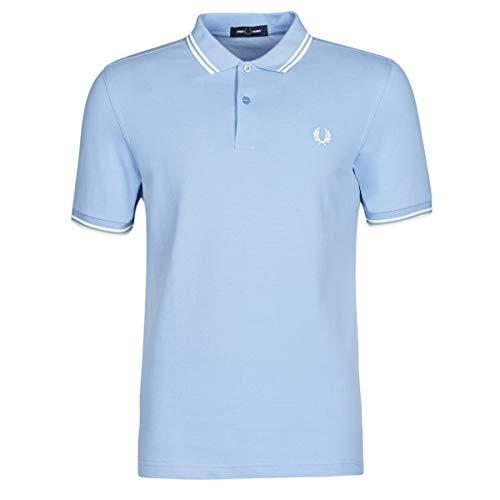 Fred Perry Twin Tipped Shirt T-Shirts & Poloshirts Herren Blau - XS - Polohemden Shirt