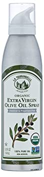 La Tourangelle Extra Virgin Olive Oil Spray Cold-Pressed Extra Virgin All-Natural Artisanal Great for Cooking Sauteing Grilling and Dressing Cooking Spray Oil 5 fl oz