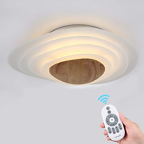 Stylamp Deckenleuchte Einfache LED Schlafzimmer Deckenlampe Creative Designer Wohnzimmer Lampe Raumlampe Japanische Tatami Beleuchtung (large,Remote control)
