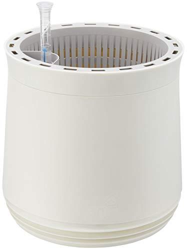 AIRY Pot M (blanco/blanco) • Purificador de aire natural filtra contaminantes, alérgenos y olores del aire • Incluye 6 L de sustrato de base Airy, indicador de nivel de agua y tanque de agua (