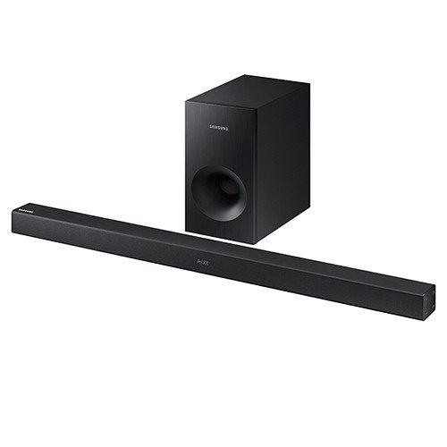 Samsung 2.1 Channel 130 Watt Wireless Sound Bar with Active Subwoofer Home Theater System