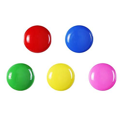 Westcott E-10822 00 Imanes redondos 10 unidades, 30 mm, 2 de color blanco, negro, rojo, azul, amarillo