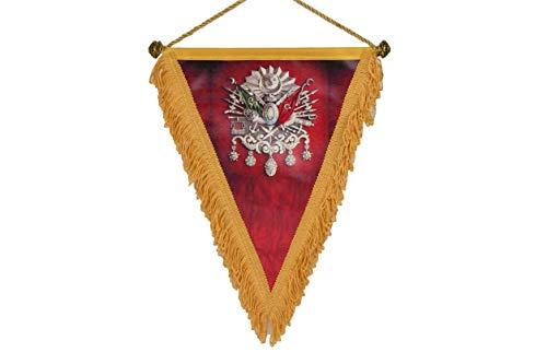 Gök-Türk Fahne Bayrak Abdülhamid Tugra Sultans Stempel Osmanisches Reich Ottoman Osmanli - rot - aus Kunstleder