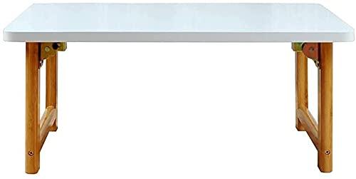 WSVULLD Mesa Plegable, Mesa Baja Multifuncional en la Cama de Madera Maciza, Mesa de bambú Simple nórdica Mesa de Ocio/Mesa de Estar Mesa de café, 70 * 40 * 25 cm (Color : 70 * 40 * 30cm)