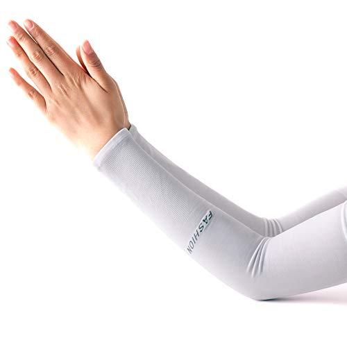 UV-Sonnenschutz, kühlende Arm-Ärmel, atmungsaktiv, kühlend, für Männer und Frauen, für Basketball, Laufen, Radfahren, Golf, Volleyball, Baseball & Fußball-Sportarten & Outdoor-Aktivitäten, 2 Paar