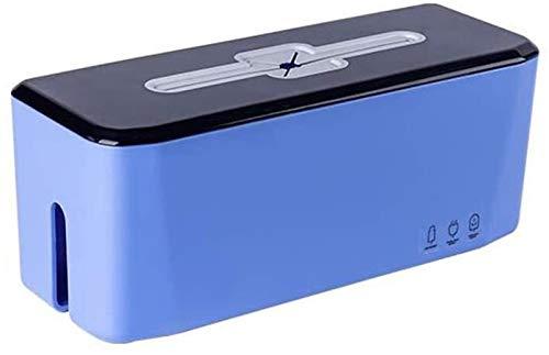 GJJSZ Router Rack Regale Überspannungsschutz, mit Kabel-Management-Box, Kabel-Organizer-Box, Drahtbrett-Veredelungsbox, für Zuhause und Büro (Farbe: Blau, Größe: 20 x 10 x 12 cm)