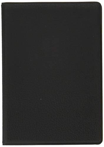 セット 海外旅行用品にスキミング防止 ICパスポートカバー 皮革模様 (クラシックブラック)+スキミング防止カード1枚