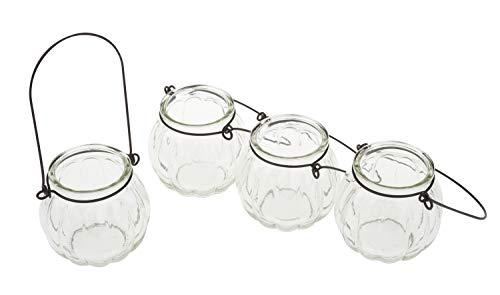 VBS Glas-Windlicht mit Bügel, 4 Stück
