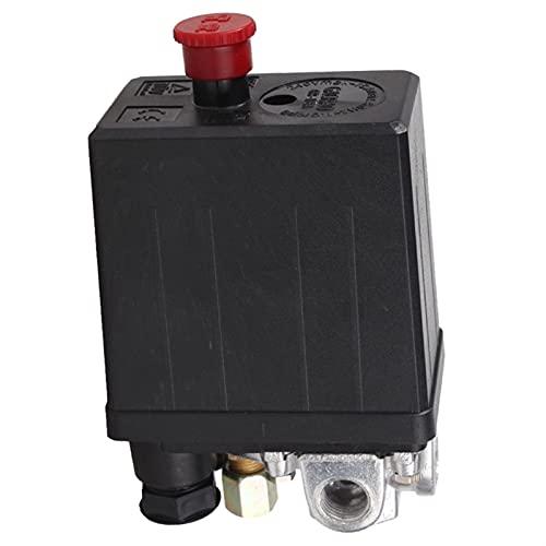 HUANHUAN Huan Store Válvula de Control del Interruptor de presión del compresor de Aire de Servicio Pesado 90 PSI -120 PSI Negro (Color : Black)
