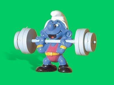 Unbekannt 40507 Superschlumpf Gewichtheber Schleich