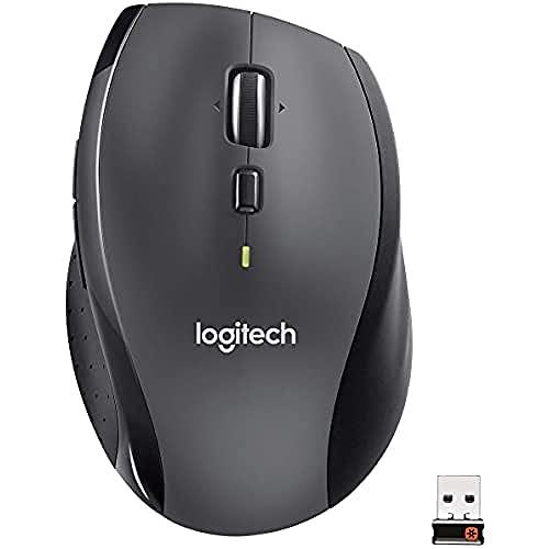 Logitech M705 Trådlös Mus,Business förpackning, 2.4 GHz med USB Unifying Mini-Receiver, 1000 DPI Lasersensor, 7 knappar, Extra tumknapp, 3 års Batteritid, PC / Mac / Laptop / Chromebook - Grå