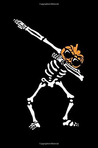 Dab Skeleton Pumpkin Head Jack O' Lantern: Halloween Notebook | All Souls Day November Creepy Scary Journal Mini Notepad Funny Humor Gift College Ruled (6