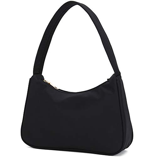 【Superior Nylon Materials】This small clutch shoulder bag made of advanced nylon fabric, material of this ladies mini shoulder handbag is durable and can be waterproof. 【Perfect Size for Women】9.5'' * 5.1'' * 2.6'', a slim, simple and small handbag of...