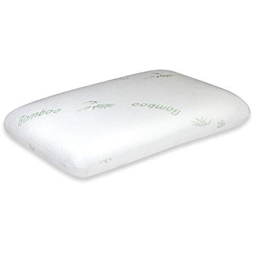Vitabo weiches Kopfkissen, ergonomisches Kissen aus Memory-Schaum und Viskose-Bezug aus Bambus-Fasern, Nackenkissen für Seitenschläfer aus Viscoschaum, 60 x 40 cm