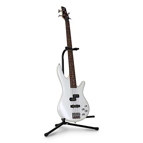 auna 312GTS - Gitarrenständer, Gitarrenhalter, Gitarrenstand, für E-Gitarren, Akustikgitarren, Bässe, Y-Kopf, Instrumentenhaken, Gitarrenhalsstütze, zusammenklappbar, 57-72,5 cm, schwarz