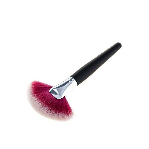 Topdo 1pcs Mode Maquillage Brush Set Visage Ombre à Paupières Eyeliner Fondation Brosse Outil (Rouge et Blanc) 17.5 * 9 * 1.6cm