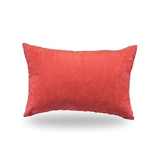 LACMY Rotwild-Samt-Nickerchen-Kissen-Schwamm-Komfort-faltendes Bett-Schlafenkissen-Büro, das Mittagspause-Kissen hinlegt