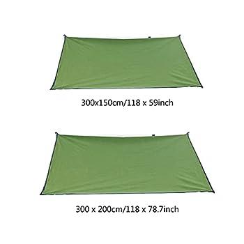 POHOVE Bâche de camping imperméable - Tente de pluie et anti-mouches - Bâche multifonctionnelle pour l'extérieur, portable, légère - Pour pique-nique, randonnée, abri pour voiture