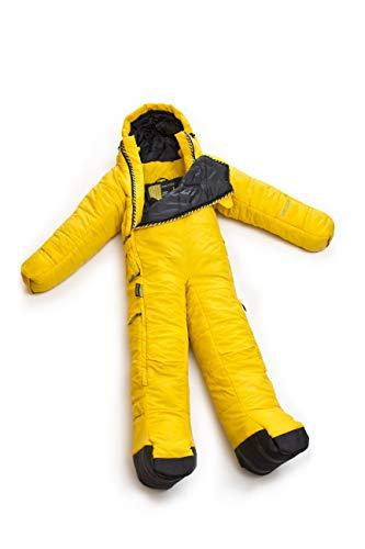 Selk'bag Original Tragbarer Schlafsack mit Armen und Beinen, Zitronenchrom, M