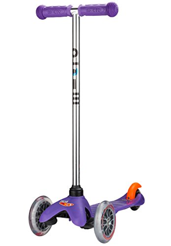 Micro Kickboard - Mini Original 3-Wheeled, Lean-to-Steer, Swiss-Designed Micro Scooter for Preschool Kids, Ages 2-5, Purple