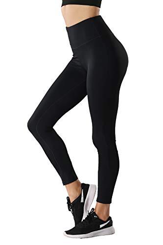TYUIO Yoga Leggings Womens High Waist Running Workout Pants Hidden Pocket Black XL