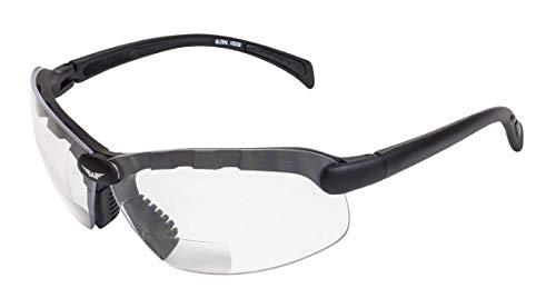 Global Vision Occhiali C-2bifocali + 1,50ingrandimento Occhiali di Sicurezza, Lenti Trasparenti