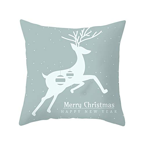 Fineday Merry Christmas Decorations Let it Sonw Wishes Winter Pillow Covers Set, Pillow Case, Home Products for Christmas Day (Multicolor)