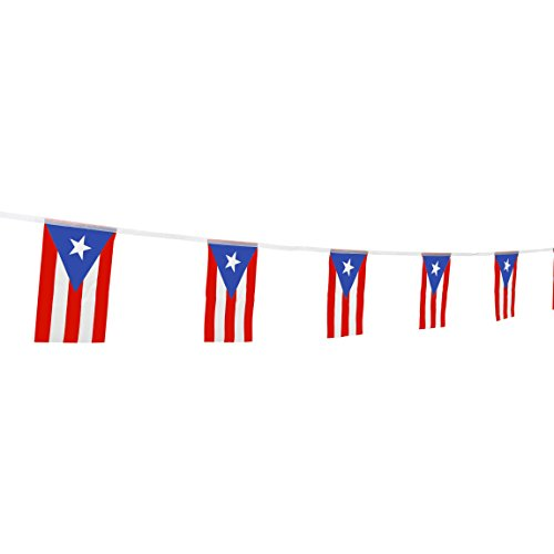 TSMD Puerto Rico Flag, 100 Feet Puerto Rican Flag National Country World Flags Banner,Party Decorations for Olympics,Bar,School Sports Events,International Festival Celebration(8.2' x 5.5'')