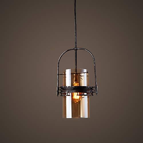 Hines Lámpara Colgante De Vidrio De Hierro E27 Lámpara De Techo Industrial Moderna Personalidad Interior Simplicidad Lámpara Colgante Decoración Nórdica Lámpara Colgante De Techo Lámpara De Suspensión