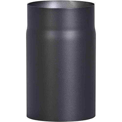 FIREFIX 2095 R150/2 Ofenrohr aus 2 mm starken Stahl (Rauchrohr) in 150 mm Durchmesser, für Kaminöfen und Feuerstellen, Senotherm, schwarz, 250 mm lang