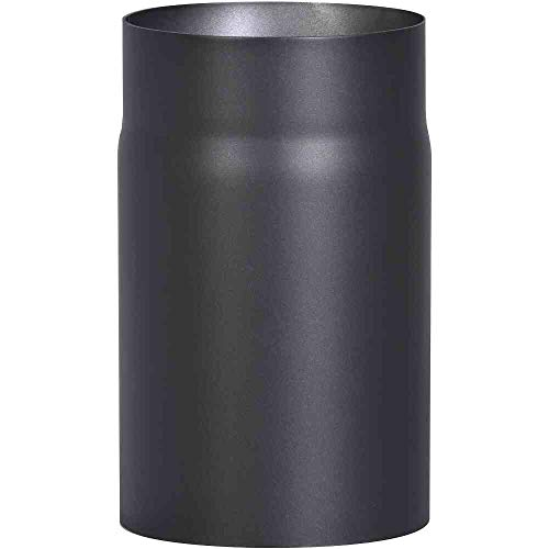 FIREFIX 2 mm starkes Ofenrohr aus schwarzem Stahlblech