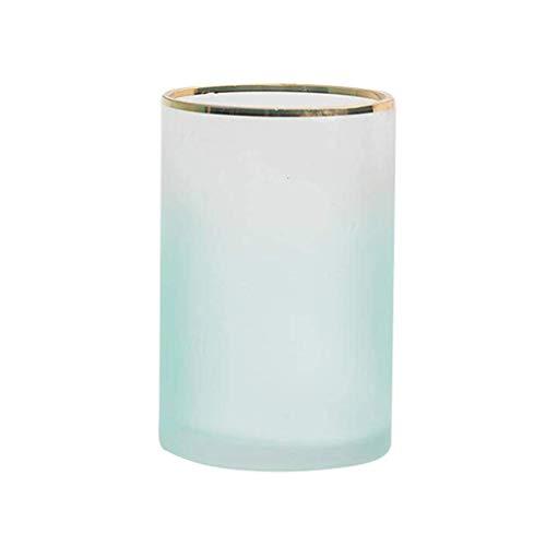 ZXL cilinder glas bloemenvaas fles kleurverloop mat Nordic eenvoudige kruik voor droge bloemen hydrocultuur plant, ornamenten voor woonkamer vensterbank woonaccessoires, roze/groen 2 maten Opti