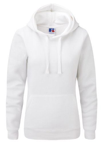 Russell Z265F Damen Authentic Hooded Sweatshirt Kapuze Kapuzenshirt, Größe:M, Farbe:White