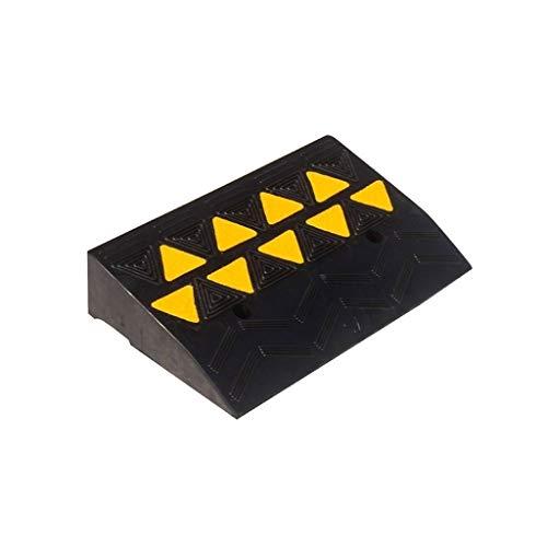 Goede kwaliteit rubberen golframpen, verkeersveiligheid voor auto, caravan, rolstoel, ongeschikte accu's hoogte: 8 cm/11 cm praktisch 50 * 28 * 8CM zwart