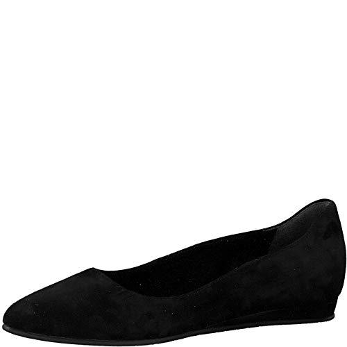 Tamaris Damen Ballerinas 22118-24, Frauen KlassischeBallerinas, Flats sommerschuh klassisch elegant weibliche Lady,Black,36 EU / 3.5 UK