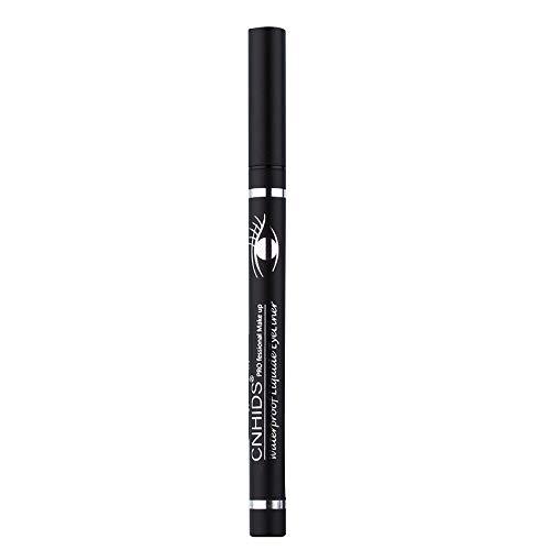 Nourich Maquillage de qualité supérieure Yeux Crayon Longwear Gel Noir Eye-Liner Stickers Eyeliner Dry Rapide Stylo Wateroroof Highly Pigmented eyeliner The Pen Eyeliner (01#)