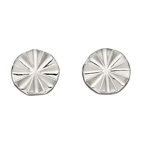 Fiorelli Silver Pendientes biselados de corte de diamante E5889
