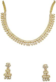 GOLD NECKLACE EAR RING SET