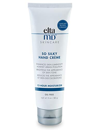 EltaMD So Silky Hand Crème, Moisturizing Hand Lotion with Ceramides, Sclareolide and Vitamin E for Dry, Flaking Hands, 12-Hour Hand Cream, 3 oz.