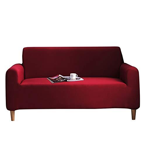 ADGAI Spandex Funda de sofá de Color sólido Funda Protectora Antideslizante elástica para Protector de sofá, Protector de sofá de Tela Suave Moderno elástico,Rojo,1seater