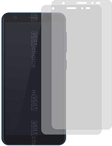 2X Crystal Clear klar Schutzfolie für ZTE Blade A5 2019 Bildschirmschutzfolie Displayschutzfolie Schutzhülle Bildschirmschutz Bildschirmfolie Folie