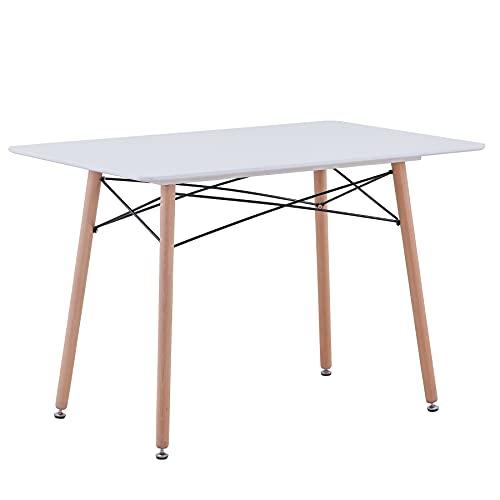 GrandCA HOME Tavolo da pranzo, tavolo da cucina quadrato Tavolo da pranzo moderno nordico, gambe in...