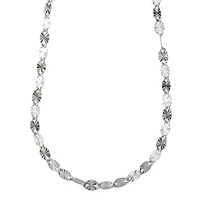 Ellen Tracy Sterling Silver Sunburst Link Necklace, Made in Italy