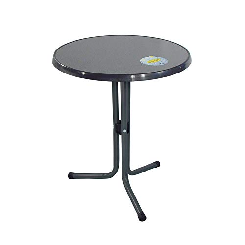 Ribelli tuintafel - antraciet - terrastafel eettafel tuinmeubelen tafel Ø 60 x 70 cm bistrotafel