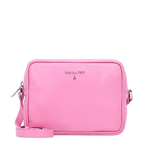 PATRIZIA PEPE Borsa Mini Pochette con Tracolla Bag Donna in Vera Pelle Rosa Malibu Pink