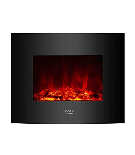 Cecotec Chimenea electrica Decorativa de Pared Ready Warm 2600 Curved Flames