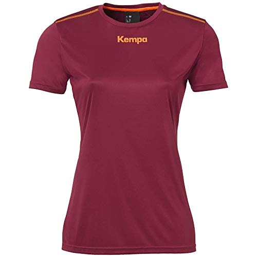 Kempa Poly T-Shirt de Handball pour Femme S Rouge foncé