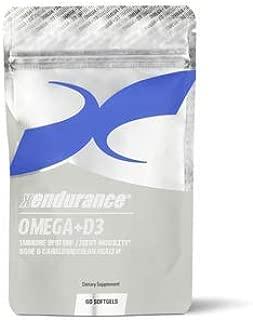 Xendurance® Omega+D3 | 1000mg EPAs / DHAs & 4,000 IUs of Vitamin D3 | 60 Softgels